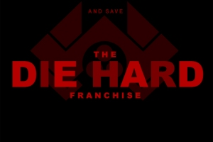 "Die Hard Franchise Poster with text ""Free John McTiernan And Save The Die Hard Franchise"". Each alternate letter of the title DIE HARD has been made darker so to reveal the word DEAD"