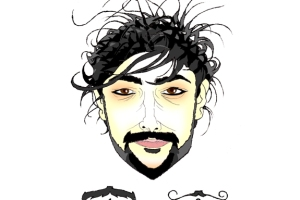 A caricature of Alex Zane and his hairstyle by What Went Wrong Or Right With...?