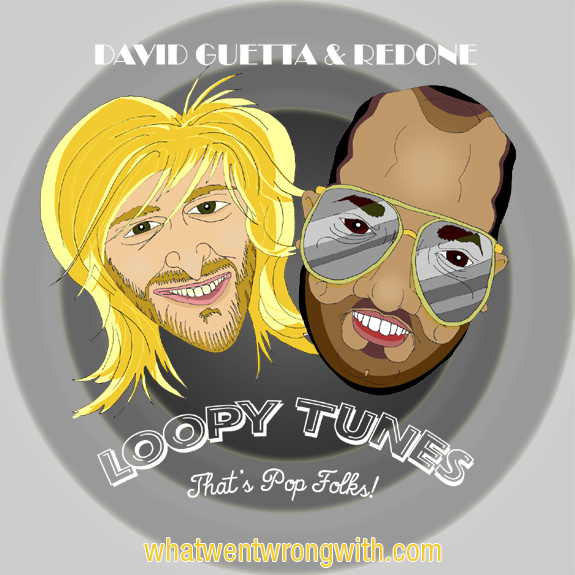 Caricatures of David Guetta and RedOne Producer by What Went Wrong With