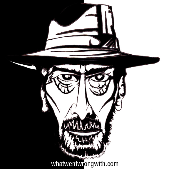 Caricature of Frank Miller by What Went Wrong With