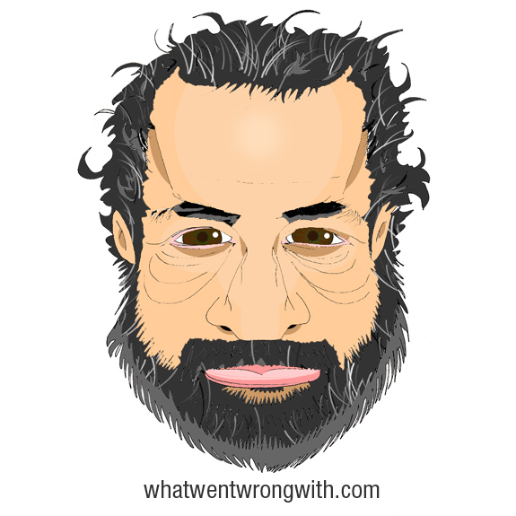 Caricature of Judd Apatow by What Went Wrong With