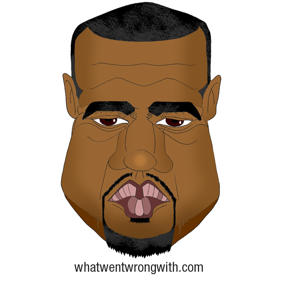 Caricature of Kanye West by What Went Wrong With