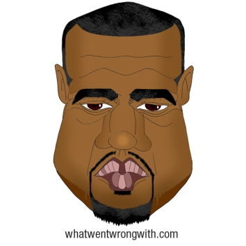 A caricature of Kanye West by What Went Wrong Or Right With...?