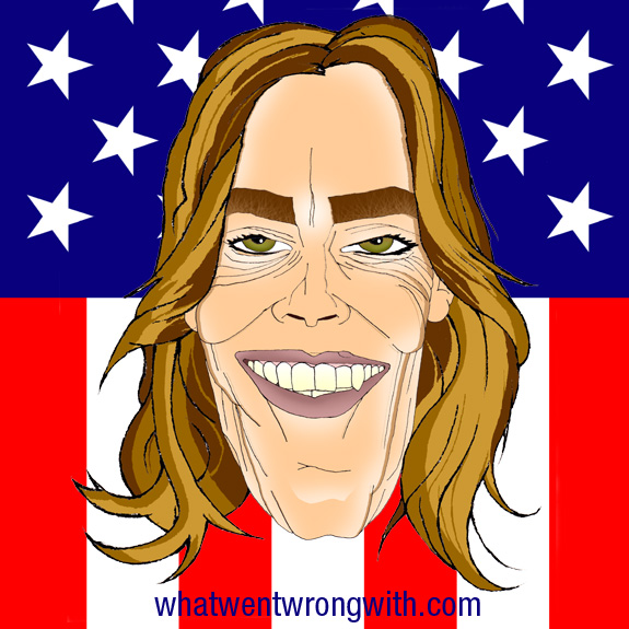 Caricature of Kathryn Bigelow by What Went Wrong With