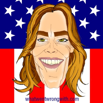 A caricature of Kathryn Bigelow by What Went Wrong Or Right With...?