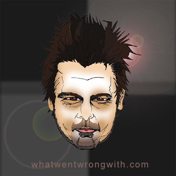 Caricature of Len Wiseman by What Went Wrong With shown with a lens flare