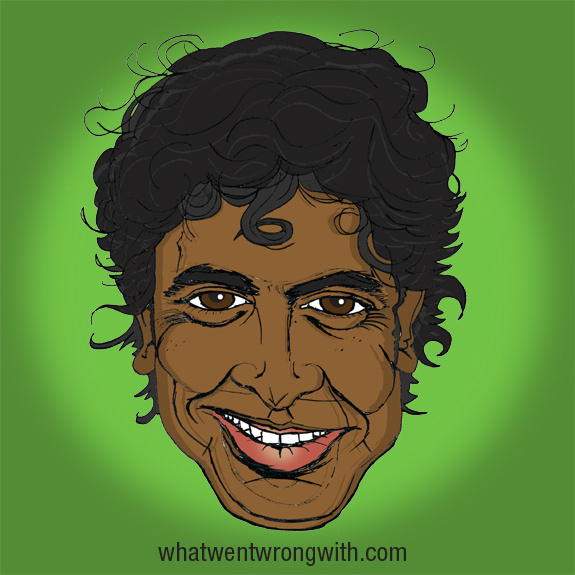 Caricature of M. Night Shyamalan by What Went Wrong With