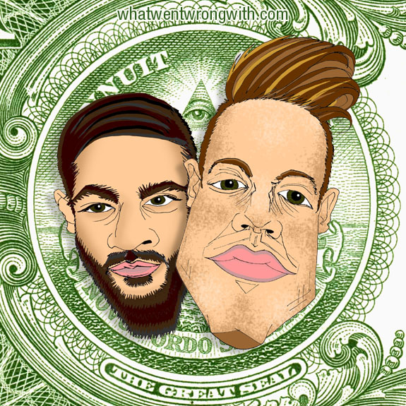 Caricatures of Macklemore and Ryan Lewis by What Went Wrong Or Right With...?