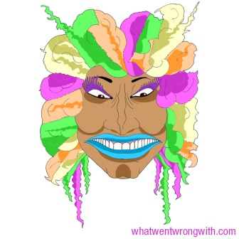 A caricature of Nicki Minaj by What Went Wrong Or Right With...?