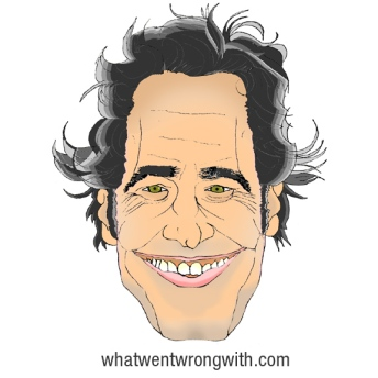 A caricature Of Paul Rudd by What Went Wrong Or Right With...?