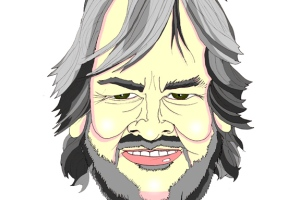 A caricature of Peter Jackson by What Went Wrong Or Right With...?