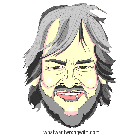 Caricature of Peter Jackson by What Went Wrong With