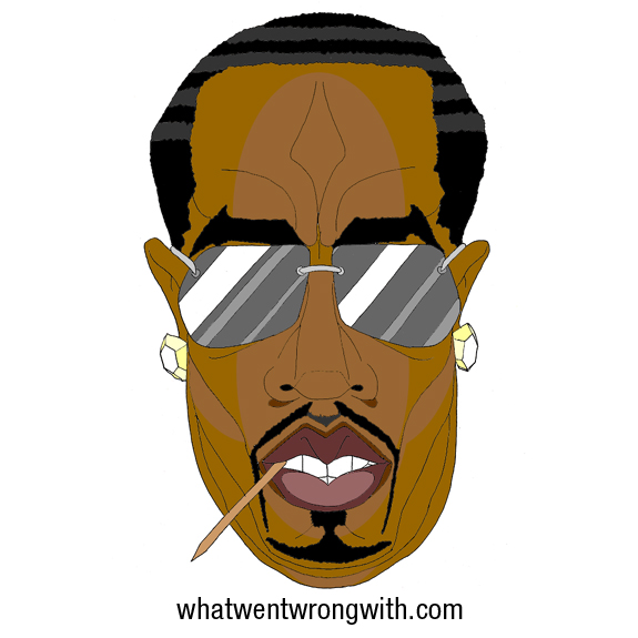 A caricature of Puff Daddy aka P Diddy by What Went Wrong Or Right With...?