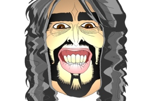 A caricature of Russell Brand by What Went Wrong Or Right With...?
