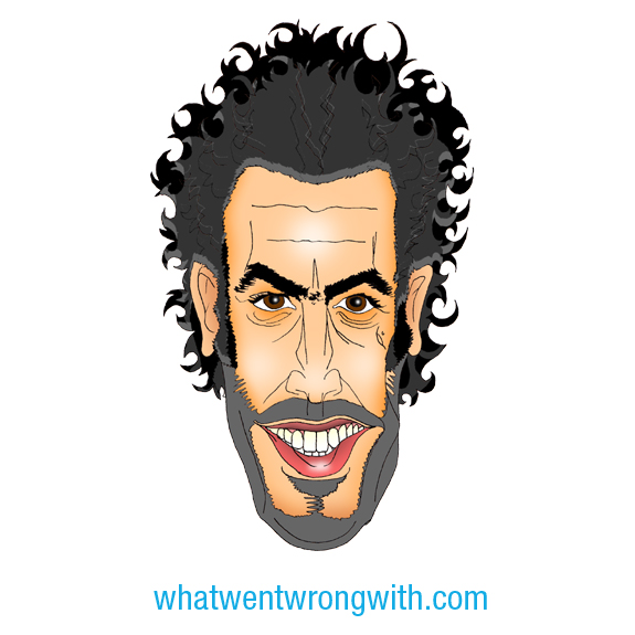 Caricature of Sacha Baron Cohen by What Went Wrong With