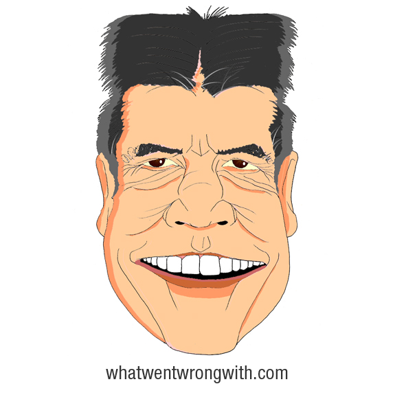 A caricature Of Simon Cowell by What Went Wrong Or Right With...?