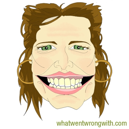 A caricature of Stacey Dooley by What Went Wrong Or Right With...?