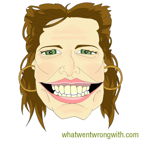 Caricature of Stacey Dooley by What Went Wrong With