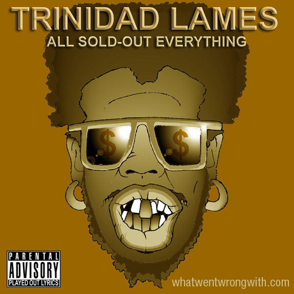 Caricature of Trinidad James by What Went Wrong With