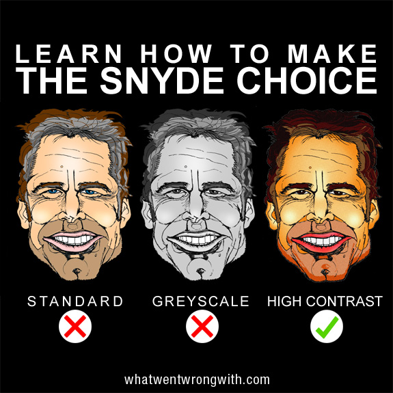 A caricature of Zack Snyder by What Went Wrong Or Right With...?