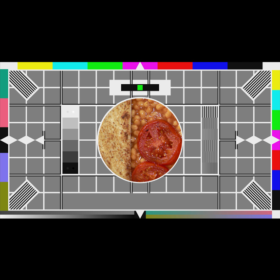 A parody Breakfast Television Test Card by What Went Wrong Or Right With...?