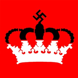 An image of a crown with a Nazi Swastika - by whatwentwrongwith.com