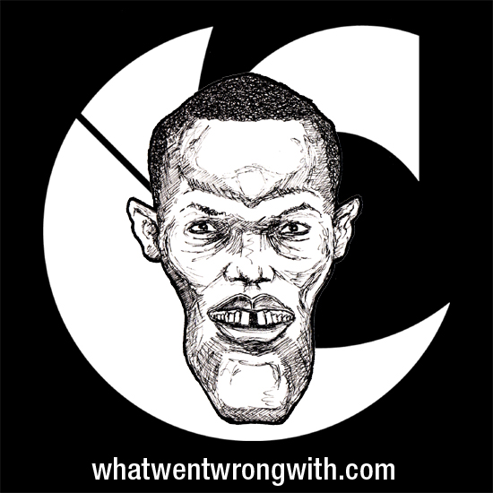 Caricature of rapper Canibus by What Went Wrong With