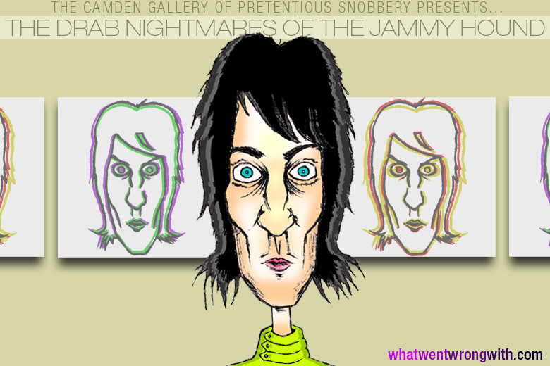 Caricature of Noel Fielding by What Went Wrong With