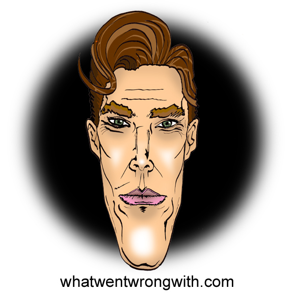 Caricature of Benedict Cumberbatch by What Went Wrong With...? for whatwentwrongwith.com