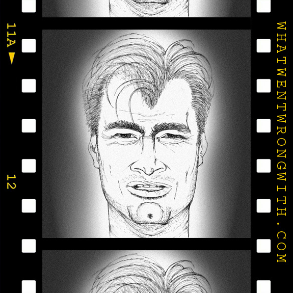 Caricature of Christopher Nolan by whatwentwrongwith.com
