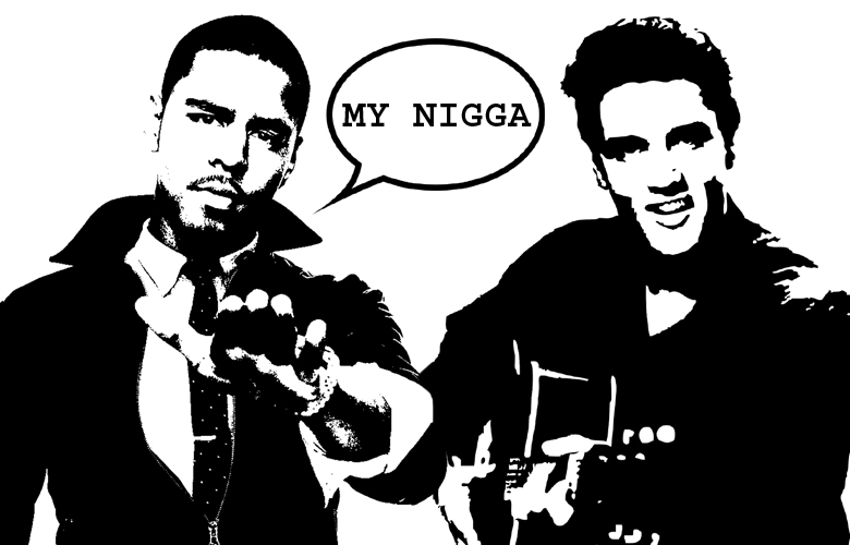 What Went Wrong With... J. Cole's lyric My Nigga Elvis in Fire Squad? Image of J. Cole And Elvis with speach bubble