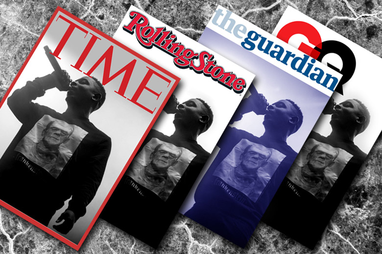 Image of Kendrick Lamar on TIME, Rolling Stone, The Guardian, & GQ Magazine Covers. By whatwentwrongwith.com