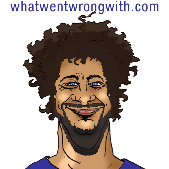 Caricature of stand-up comedian Jeff Ross by whatwentwrongwith.com