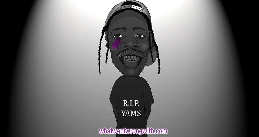 Caricature of A$AP Rocky, a parody of the At.Long.Last.ASAP album cover by whatwentwrongwith.com