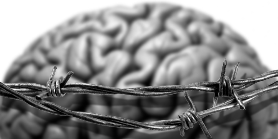 What Went Wrong With... School? An image of barbed wire surrounding a brain by whatwentwrongwith.com