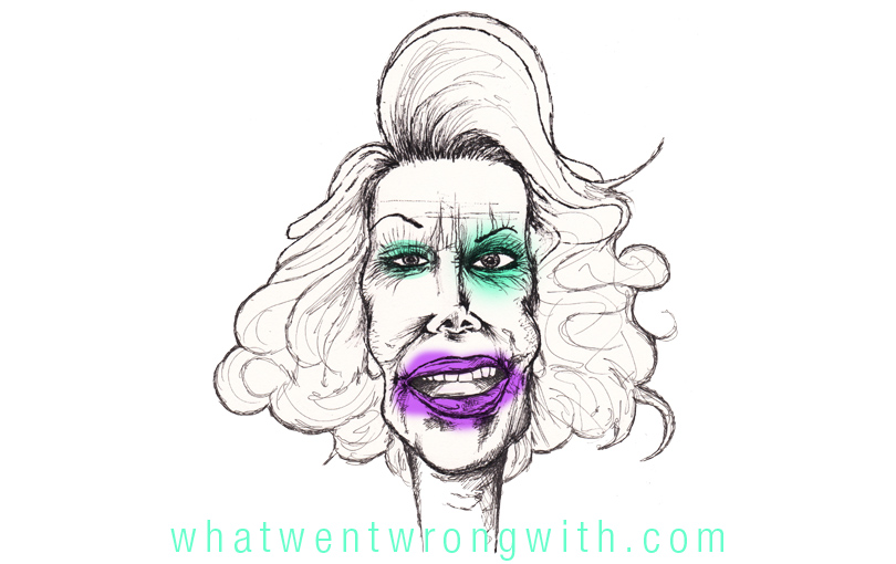 Caricature of Joan Rivers by What Went Wrong With