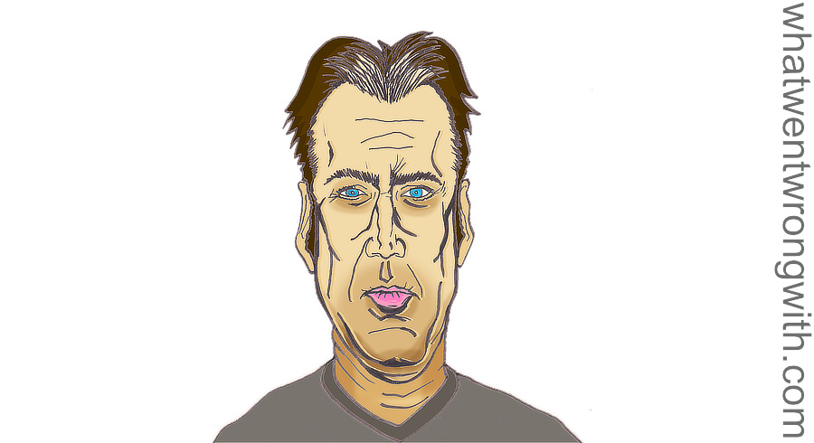 Caricature of Nicolas Cage by whatwentwrongwith.com