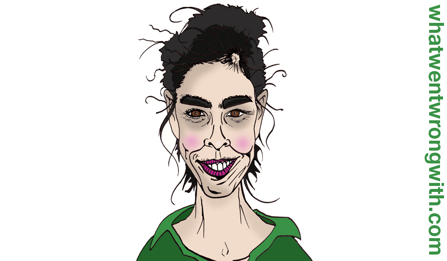 Caricature of Sarah Silverman by whatwentwrongwith.com