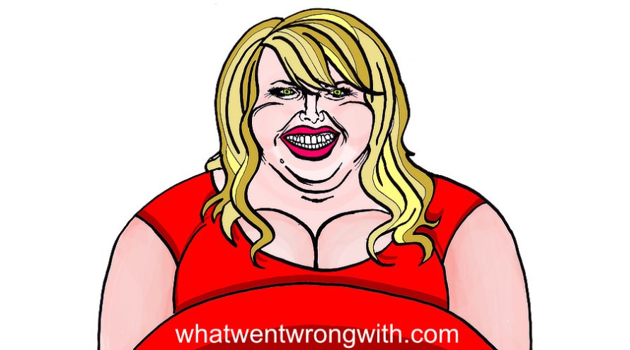 Caricature of Rebel Wilson by whatwentwrongwith.com