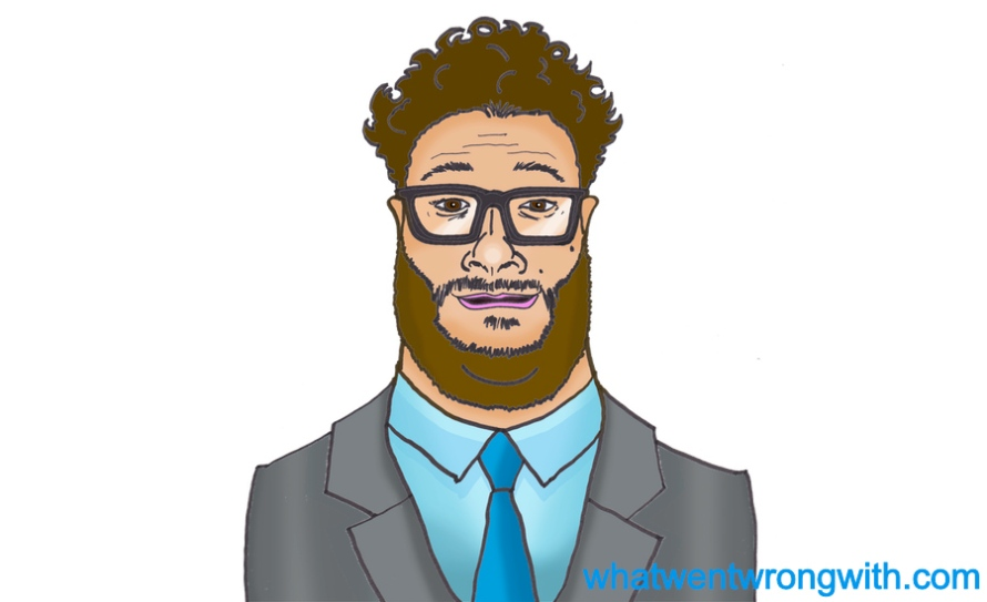 Caricature of Seth Rogen by whatwentwrongwith.com