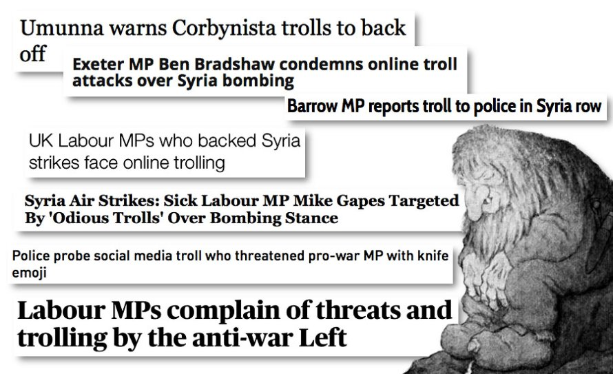 """An image of a troll against news stories and headlines which feature the word """"Troll"""" by whatwentwrongwith.com"""