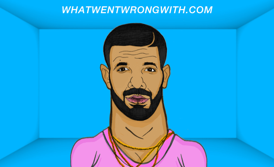 Caricature of Drake the rapper by whatwentwrongwith.com