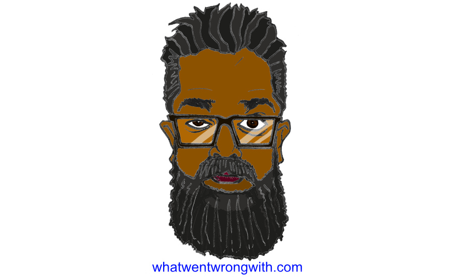 Caricature of stand-up comedian Romesh Ranganathan by whatwentwrongwith.com