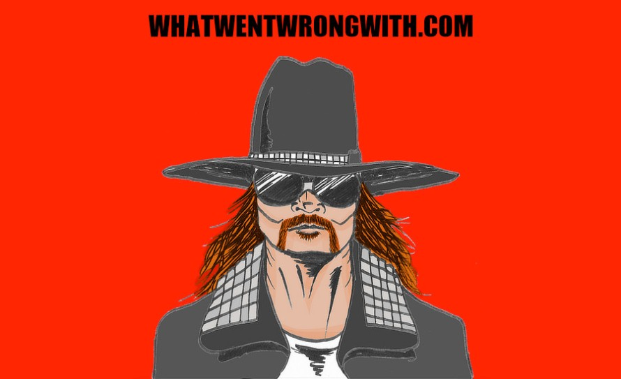 A caricature of Guns N' Roses lead singer Axl Rose by whatwentwrongwith.com