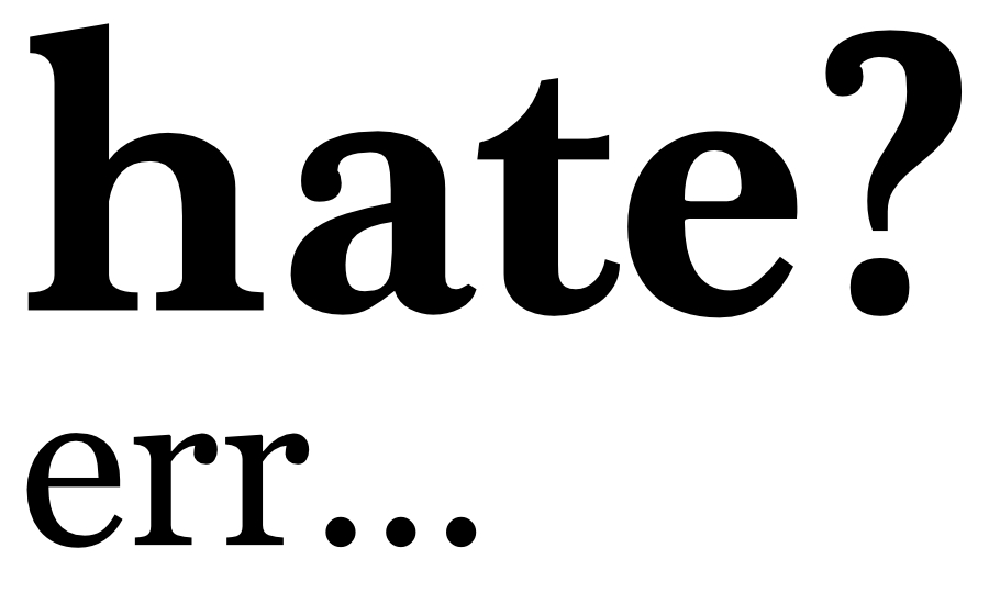"What Went Wrong With... The Word ""Hater""? An image of the word hate with a question mark"