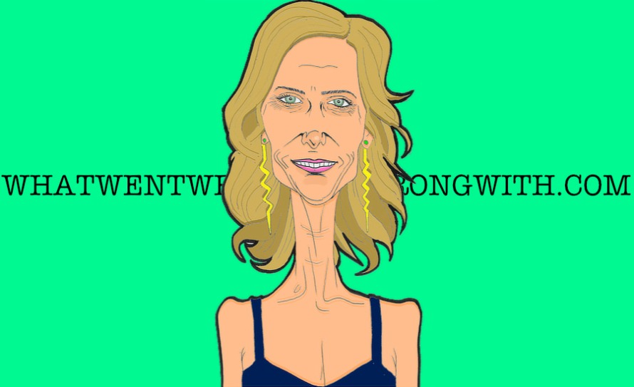 A caricature of Kristen Wiig by whatwentwrongwith.com