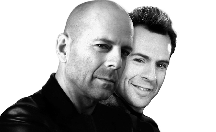 An image of Bruce Willis in the noughties and Bruce Willis in the eighties by whatwentwrongwith.com