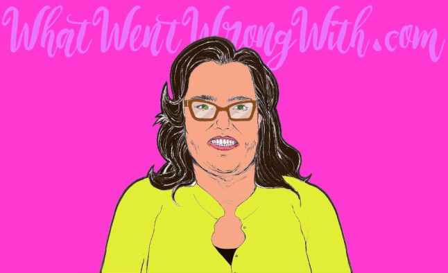 A caricature of Rosie O'Donnell by What Went Wrong Or Right With...?
