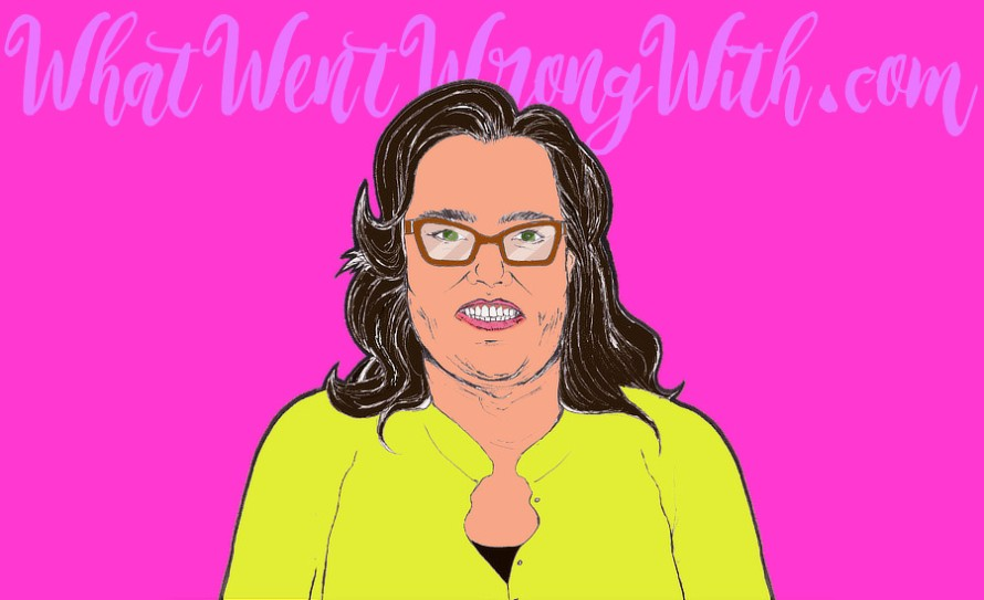 A caricature of Rosie O'Donnell by whatwentwrongwith.com