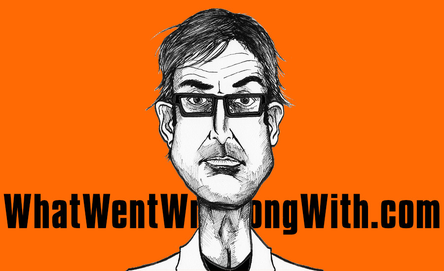 A caricature of Louis Theroux by What Went Wrong Or Right With